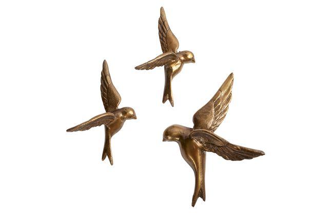 BePureHome Avaler Too Vogels set van 3 Wanddecoratie