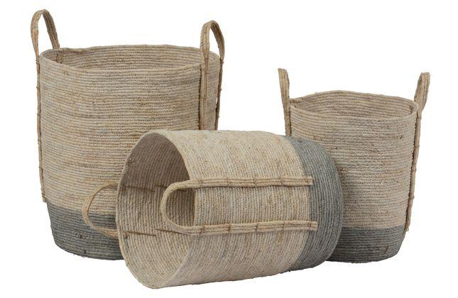 BePureHome Indian Corn Set van 3 Baskets