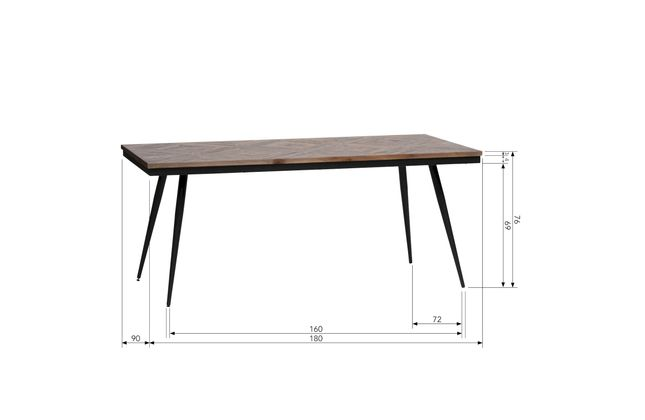 BePureHome Rhombic Eettafel