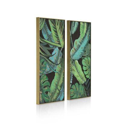 COCO maison Banana Leafs Schilderij
