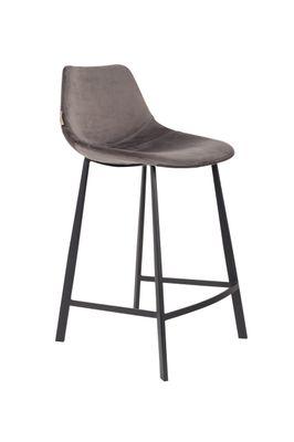 Franky Velvet Counter stoel