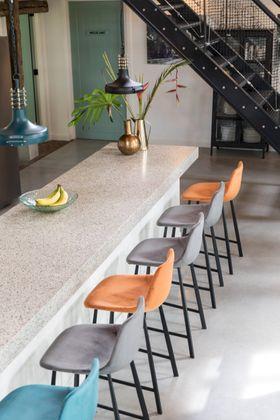 Dutchbone Franky Velvet Counter stoel