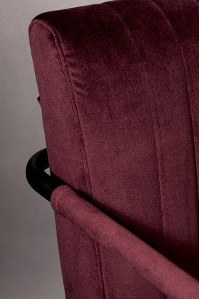 Dutchbone Stitched Velvet Eetkamerstoel