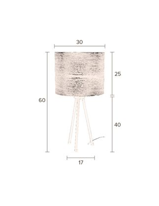 Dutchbone Woodland Tafellamp