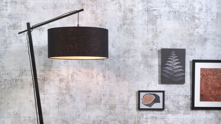 Good&Mojo Andes Zwart Vloerlamp