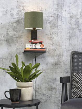 Good&Mojo Andes Zwart Wandlamp