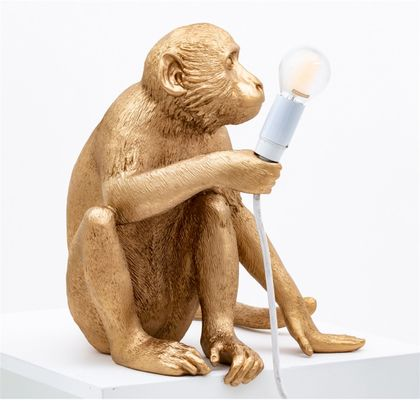 Seletti Monkey Gold Tafellamp