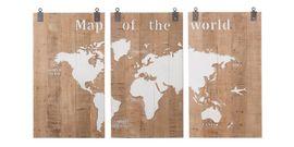 Trendhopper Map of the world Muurdecoratie