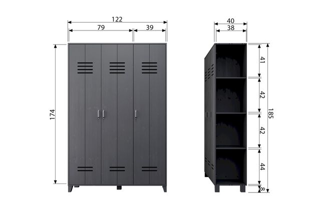 vtwonen Locker Lockerkast