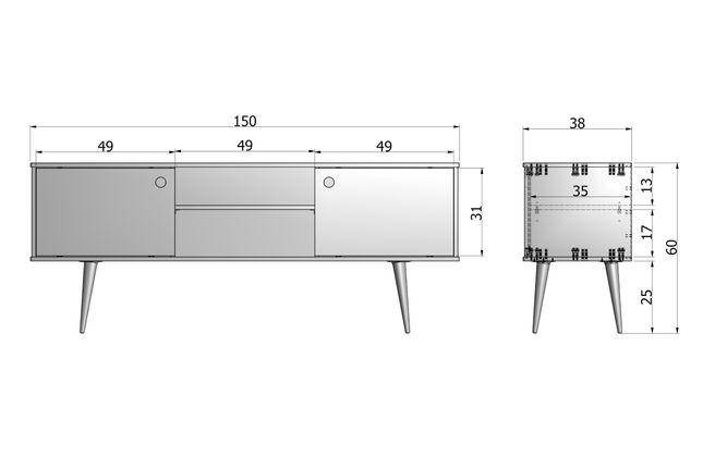 WOOOD Retro Tv-meubel