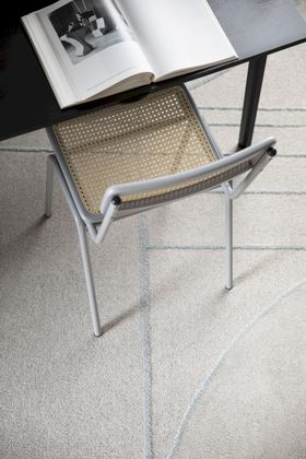 Zuiver Bliss Grey/Blue Vloerkleed