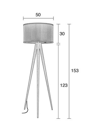 Zuiver Tripod Webbing Vloerlamp
